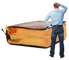 big Bible and man