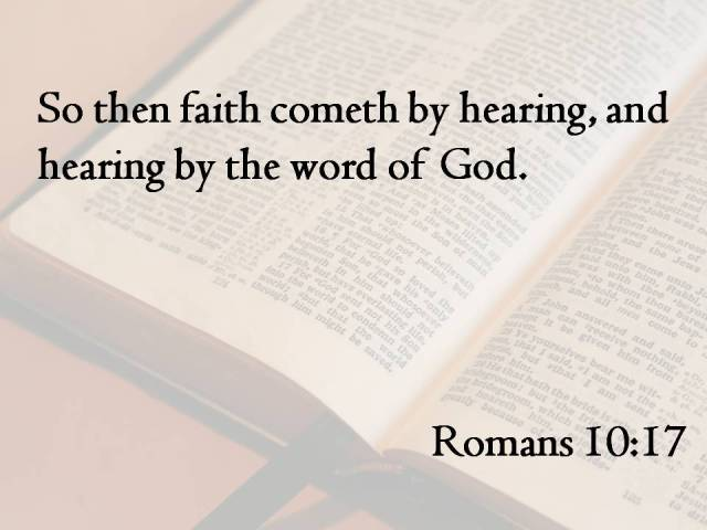 faith Romans 10-17