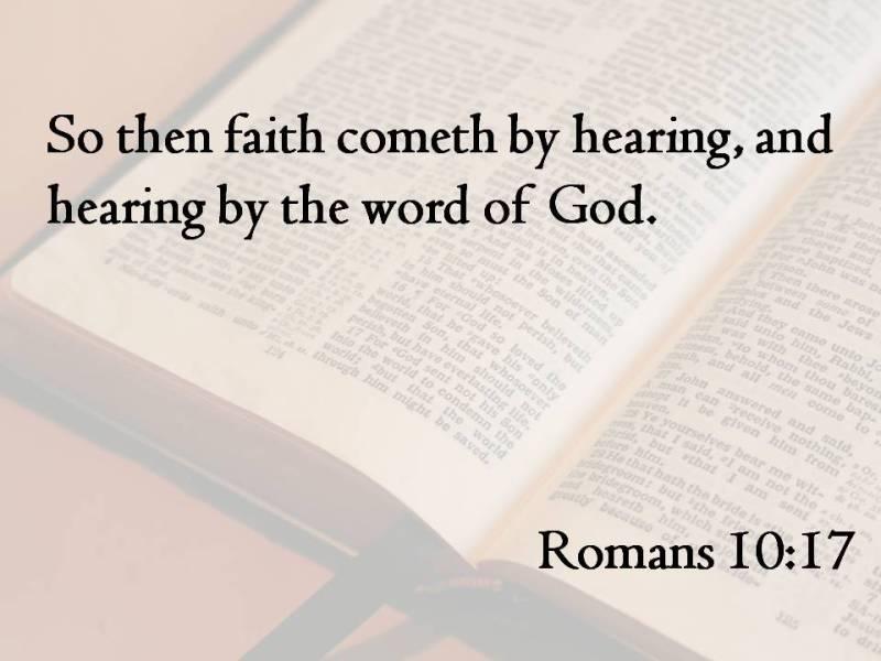 faith Romans 10-17