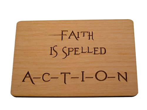 Faith is spelled action
