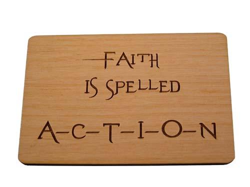 Faith is spelled action
