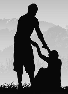 helping someone to stand up