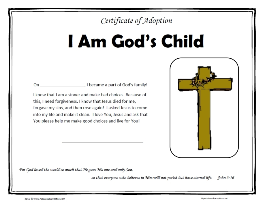 Certificate of Adoption Photo