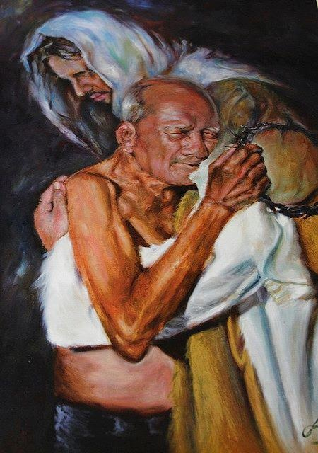Jesus and old man