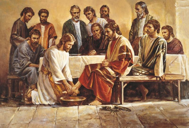 Jesus washing apostles feet - Big